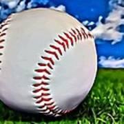 Baseball In The Grass Art Print