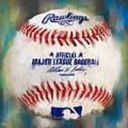 Baseball Iv Art Print by Lourry Legarde