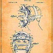 Baseball Mask Patent Orange Us2627602 A Art Print