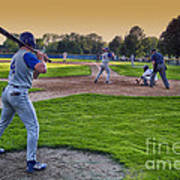 Baseball On Deck Circle Art Print