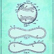 Baseball Patent Blue Us1668969 Art Print