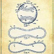 Baseball Patent Vintage Us1668969 Art Print