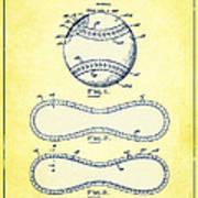 Baseball Patent Yellow Us1668969 Art Print
