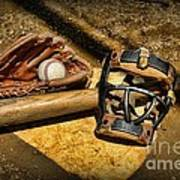 Baseball Play Ball Art Print by Paul Ward