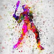 Baseball Player - Holding Baseball Bat Art Print