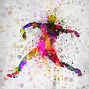 Baseball Player - Pitcher Art Print