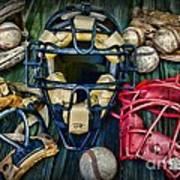 Baseball Vintage Gear Art Print
