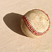 Baseball With Shadow Art Print