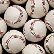 Baseballs Art Print by Ricky Barnard
