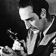 Basil Rathbone In Sherlock Holmes And The Voice Of Terror  Art Print by Silver Screen