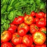 Basil Tomato Art Print