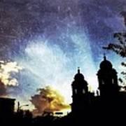 Basilica At Sunset Art Print by Mark Block