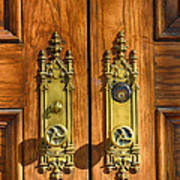 Basilica Door Knobs Art Print