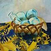 Basket Of Floats Art Print