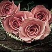 Basket Of Roses Art Print