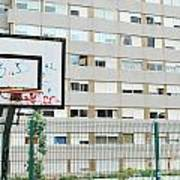 Basketball Court In A Social Neighbourhood Art Print