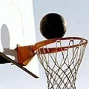 Basketball Hoop And Ball Art Print