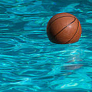 Basketball In The Pool  Art Print