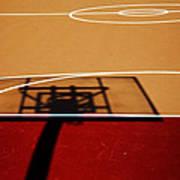 Basketball Shadows Art Print