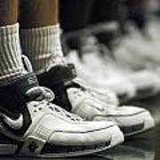 Basketball Shoes In A Row Print by Replay Photos
