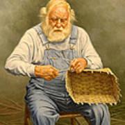 Basketmaker  In Oil Art Print by Paul Krapf
