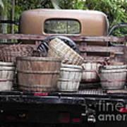 Baskets Of Feed Art Print