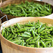 Baskets Of Fresh Picked Peas Art Print