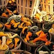 Baskets Of Gourds Art Print