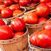 Baskets Of Tomatoes At A Farmers Market Art Print by Teri Virbickis