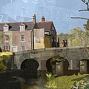 Baslow Bridge Art Print by Kenneth North