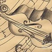 Bass Doodle Art Print