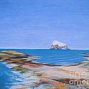 Bass Rock North Berwick Art Print by Yvonne Johnstone