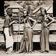 Batak Warriors In Indonesia 1870 Art Print