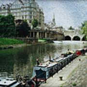 Bath Canal Art Print