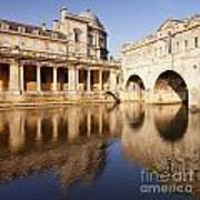 Bath Pulteney Bridge And Colonnade Bath Art Print by Colin and Linda McKie
