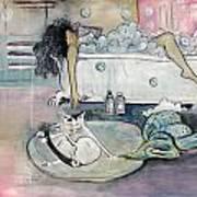 Bath Time Art Print