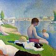 Bathers In Asnieres Art Print