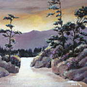 Bathing In Sunset Colors 1  Art Print