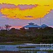 Bathouse Sunset Art Print