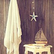 Bathroom Interior Art Print by Amanda Elwell
