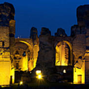 Baths Of Caracalla Art Print