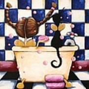 Bathtime Angels Art Print
