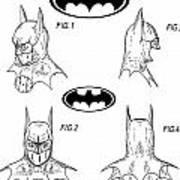 Batman Face Guard Art Print