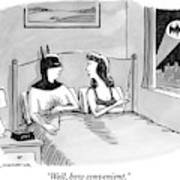 Batman In Bed With Woman After Having Sex Art Print