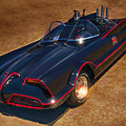 Batmobile Art Print by Tommy Anderson