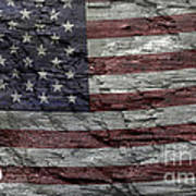 Battered Old Glory Art Print