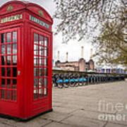 Battersea Phone Box Art Print