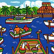 Battery Pier - Apalachicola Art Print