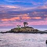 Battery Point Lighthouse And Moon Art Print