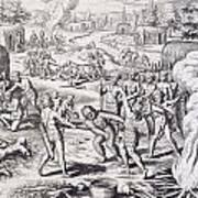 Battle Between Tuppin Tribes Art Print